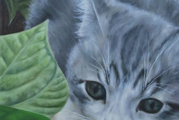 Chasse au papillon - Artiste Peintre - Guylaine Ruel