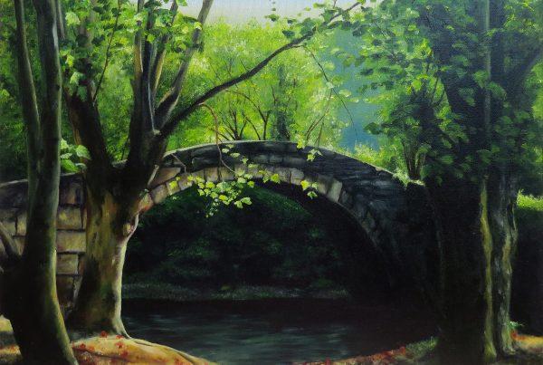 Sous le pont - Artiste Peintre - Guylaine Ruel