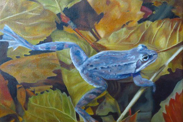 La grenouille de St-Bruno - Artiste Peintre - Guylaine Ruel