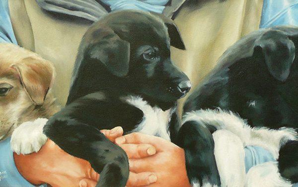 Apprenti chien à traineaux - Artiste Peintre - Guylaine Ruel