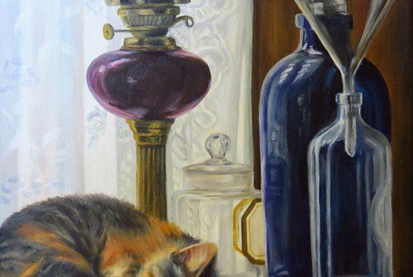 Sieste de l'après-midi - Artiste Peintre - Guylaine Ruel